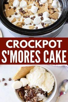 Crockpot Cake Recipes, Crockpot Deserts, Slow Cooker Recipes Dessert, Fall Dessert Recipes, Crockpot Dishes, Crock Pot Cooking, Desert Recipes, Cooking Recipes, Crock Pots