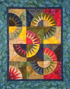 New York Beauty Quilt Top Ready to Quilt in Batiks by Patchmaker