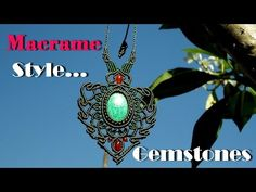 Macrame knot wrapped stones handmade with cotton waxed cord - YouTube