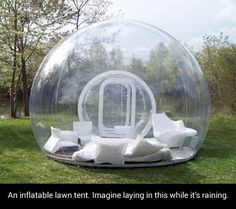 Inflatable Lawn Tent @Chels Whitt we need one of these for camping, doncha think?