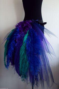Pfau Kostüm selber machen Tutu | Kostüm-Idee zu Karneval, Halloween & Fasching