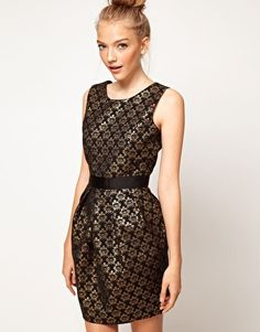 Enlarge A Wear Jacquard Cocoon Dress / asos