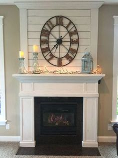 Simple Fireplace Wall Design Ideas 48