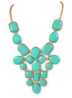 Aqua Jewel Statement Necklace – Modeets