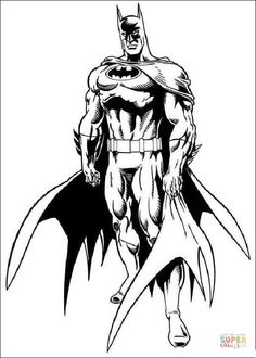 Batman From Coloring Page