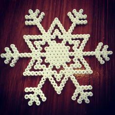 Snowflake hama beads by lelanij888