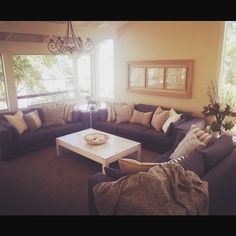 """Eadie says """"Just in from a happy Customer who has """"Eadiefied"""" her lounge room. She is thrilled and so are we! What a beautiful space for a beautiful Customer"""" www.eadielifestyle.com.au #featherfilledcushions #lovewhatwedo #lounge #styleoftheday"""