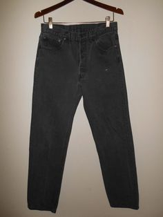 90's LEVIS black faded grey gray jeans 501 by ATELIERVINTAGESHOP