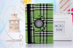 High Quality! 360 Rotating Scotland plaid Leather Stand Flip Case for Ipad Mini 1 2 3 Flip Cover With Sleep Function Case