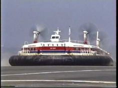 some old video 8 footage converted to digital - 1991 Hover-speed dover calais ferry service - hovercraft this was taken in Calais France