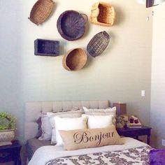 Basket Collection Display - Wall Decor
