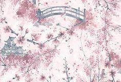 sakura print. Marina Guiu on Behance