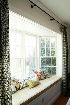 New Curtains On Bay Window