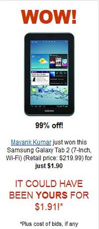 Samsung Galaxy Tab 2 for $1.90 Wow