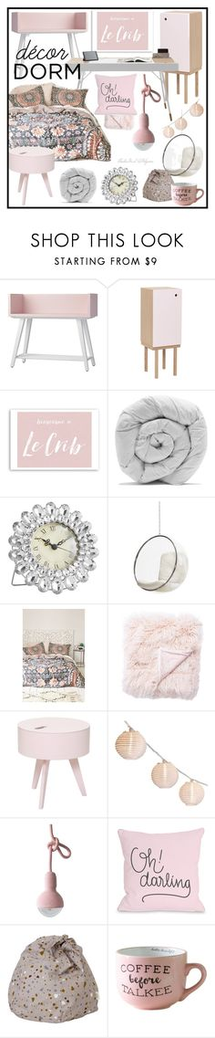 """Le Crib Dorm Decor"" by theseapearl ❤ liked on Polyvore featuring interior, interiors, interior design, home, home decor, interior decorating, Ex.t, Oliver Gal Artist Co., BoConcept and M&Co"
