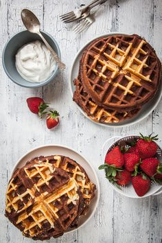 Chocolate Waffles Recipe with Vanilla Swirl