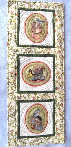 Quilted wall hanging / table runner  Song by KellettKreations, $24.00