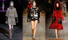 Woman in Red Hood  Dolce&Gabbana Fall Winter 2014-2015 Womens fashion show photos all the looks