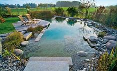 Pond + Pool Schwimmteich anlegen Mehr How the Mortgage Landscape Has Changed There used to be an alm Natural Swimming Ponds, Natural Pond, Swimming Pools Backyard, Ponds Backyard, Backyard Landscaping, Pool Garden, Lap Pools, Indoor Pools, Diy Garden