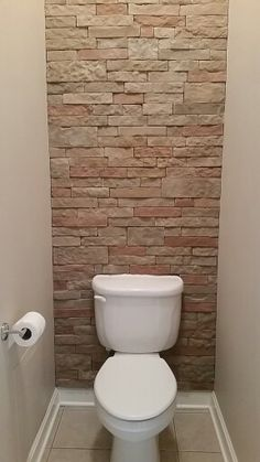 Toilet room accent wall