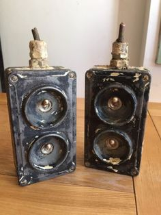 Pair-of-2-Gang-Vintage-Industrial-Factory-Crabtree-Light-Switch-Switches