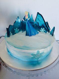 Frozen cake Elsa ice palace