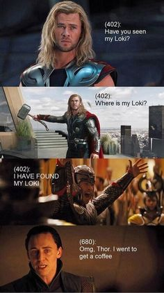 Thorki moment! So cute!