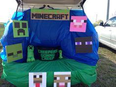 Minecraft trunk or treat, Halloween trick or treat