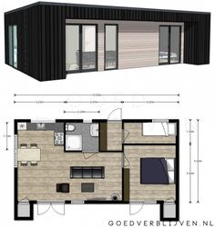 Cabins In The Woods, House In The Woods, Small House Plans, House Floor Plans, Garage To Living Space, Contemporary Cabin, Model House Plan, Container House Plans, Cabin Plans