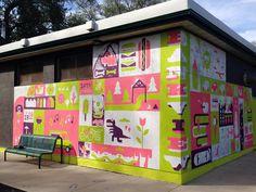 Bankview Mural Progress