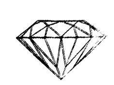 "The word ""diamond"" comes from the Greek word ""adamas"" which means ""the untameable"" or, in other translation, ""invincible."" They are tattooed with this symbol under the belief that, together, they cannot be stopped."