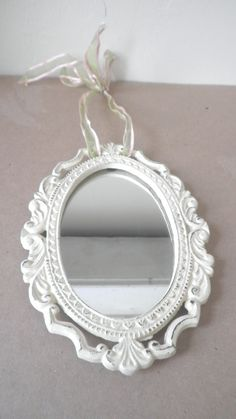 Cast Iron Hanging Mirror Retro Victorian Style