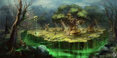 Forest Village by Innercat on deviantART