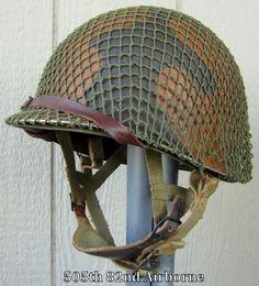 d5d9823cc5543 WWII M2 82nd Airborne PATHFINDER Helmet Front Seam IMP Paratrooper Liner  Dbale Paratrooper, American Soldiers