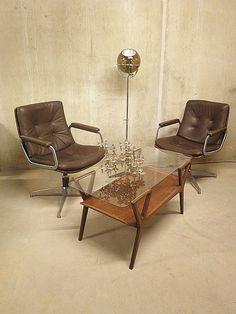 vintage design stoel bureau stoel desk chair easy chair Artifort Geoffrey Harcourt