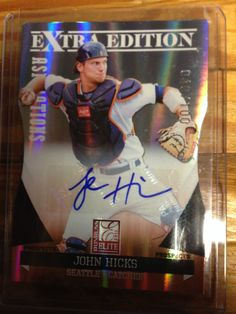 John Hicks #49  2011 Donruss Elite Extra Edition Auto # 40/100 RARE ASPIRATIONS