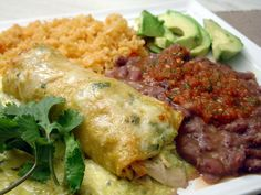 ... tortillas, a green salsa (made with tomatillos and jalapenos), chicken