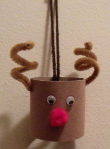 DIY Rudolph/Reindeer Toilet Paper Roll Craft