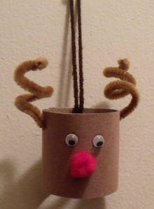 DIY Rudolph/Reindeer Toilet Paper Roll Craft