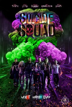 Suicide Squad Pros - Joker and Harley Quinn, costumes, Cons - stupid diablo, bad jokes from Smith, horrible melodramatic romance between Kinnaman and Delevingne Suside Squad, Joker Y Harley Quinn, Hearly Quinn, Der Joker, Free Poster Printables, Deadshot, Hero Movie, Vintage Poster, The Villain