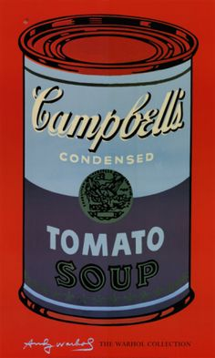 Campbell's Soup Can, 1965 (Blue and Purple) Print by Andy Warhol at Art.com