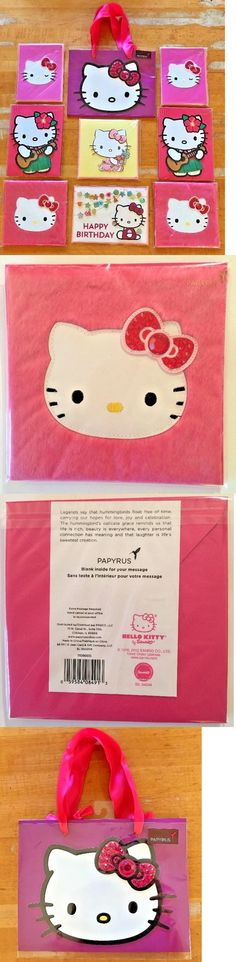 Greeting Cards and Invitations 170098: 9 Papyrus Hello Kitty Items Mixed Lot Cards + Bag Gold Seals $82 Value Sealed -> BUY IT NOW ONLY: $38 on eBay!