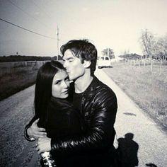 Nina Dobrev and Ian Somerhalder #TVD The Vampire Diaries they look so cute :)
