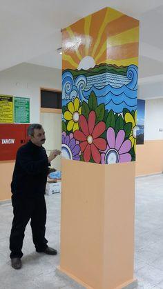 16 En Iyi Okul Duvar Boyama Görüntüsü Murals Art Classroom Ve Art