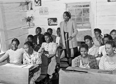 History in Photos: Jack Delano.  Singing class in a Negro School, Siloam, Green County, Georgia, 1941.