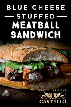 Weeknight dinner is deliciously messy with this Blue Cheese-Stuffed Meatball Sandwich recipe using Castello Traditional Danish Blue cheese. Danish Blue Cheese, Blue Cheese Recipes, Main Dishes, Side Dishes, Cheese Stuffed Meatballs, Popcorn Recipes, Quesadillas, Food Inspiration, Great Recipes