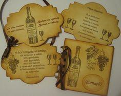Ajándékötletek borvacsorára, borkóstolóra, rendezvényekre, pincelátogatásra: bornapló, táblakép