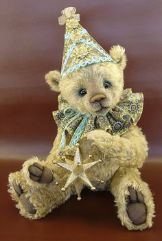 FANDANGO by Michelle Lamb. Michelle is one of the most highly awarded artists and is internationally sought after for her one of-a-kind bears fetching adoption fees from several hundred to thousands of dollars.