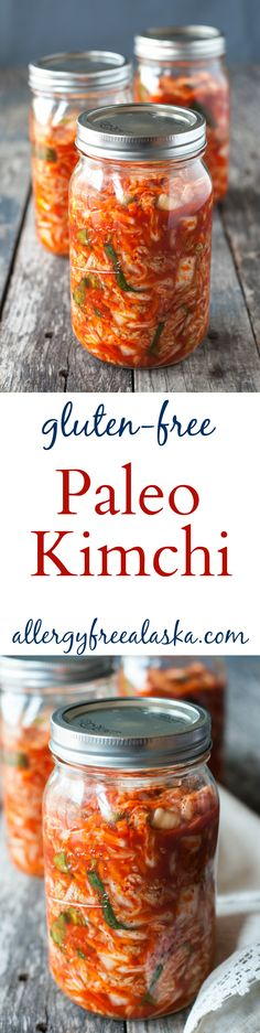 Paleo Kimchi Recipe from Allergy Free Alaska (vegetable snacks dairy free) Veggie Recipes, Paleo Recipes, Whole Food Recipes, Cooking Recipes, Gluten Free Korean Recipes, Vegetable Snacks, Cabbage Recipes, Asian Recipes, Probiotic Foods