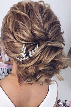 27 Lovely Wedding Hair Accessory Ideas & Tips ❤ hair accessories inspiration curly updo with crystals elstilespb ❤ See more: http://www.weddingforward.com/hair-accessories-inspiration/ #wedding #bride #weddinghairstyles #bridalaccessories #hairaccessories